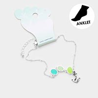 Sea Glass Anchor Anklet