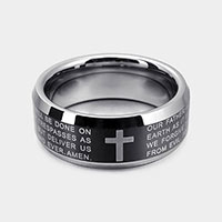 Cross Religious Message Spinner Ring