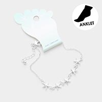 Starfish Metal Charm Anklet