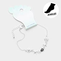 Sea life Friends Metal Charm Anklet