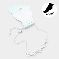 Anchor Metal Charm Anklet