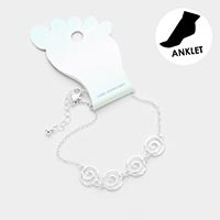 Sea Shell Metal Charm Anklet