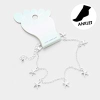 Starfish Metal Charm Dangle Anklet
