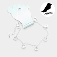 Anchor Metal Charm Dangle Anklet