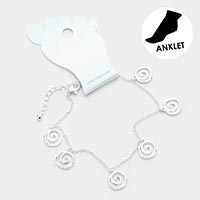 Sea Shell Metal Charm Dangle Anklet