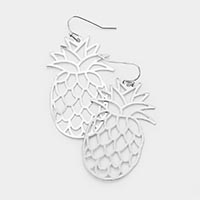 Cut Out Metal Pineapple Earrings