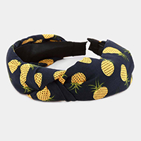 Pineapple Print Knot Headband