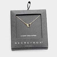 Secret Box _ 14K Gold Dipped Butterfly Pendant Necklace