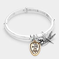 Let your Faith Dragonfly Charm Stretch Bracelet