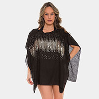 Crystal Embellished Cover-up Poncho