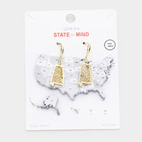 Gold Dipped Alabama State Earrings