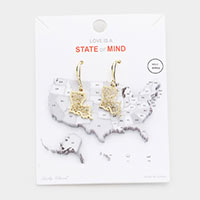 Gold Dipped Louisiana State Earrings