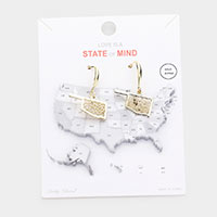 Gold Dipped Oklahoma State Earrings