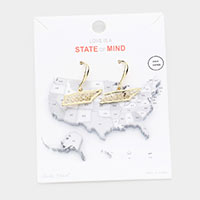 Gold Dipped Tennessee State Earrings