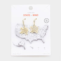 Gold Dipped Texas State Earrings