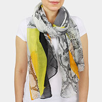 Python Abstract Print Scarf