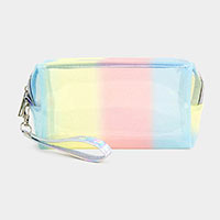 Pastel Color Striped Pouch Bags