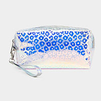 Leopard Hologram Pouch Bag