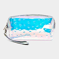 Heart Pattern Hologram Pouch Bag