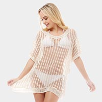 Crochet Fishnet Cover Up Cardigan