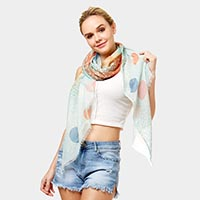 Multi Color Polka Dots Oblong Scarf