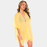 Back Point Lace Cover up Open Kimono Poncho