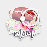 Football Mom Floral Mom Self Adhesive Charm For Phone Grips