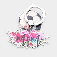 Soccer Mom Floral Mom Self Adhesive Charm For Phone Grips