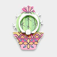 Cactus Self Adhesive Charm For Phone Grips