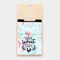 Farm Sweet Farm Floral Adhesive Phone Pocket