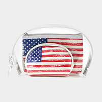 3PCS - American Flag Clear Pouches Bag
