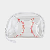 3PCS - Baseball Clear Pouches Bag