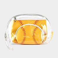 3PCS - Softball Clear Pouches Bag
