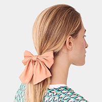 Shimmered Bow Ribbon Barrette