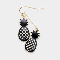 Enamel Pineapple Dangle Earrings