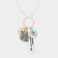 Sand Dollar Sea Life Pendant Necklace
