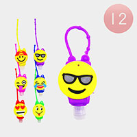 12PCS - Hand Sanitizer With Colorful Silicone Smile Holders