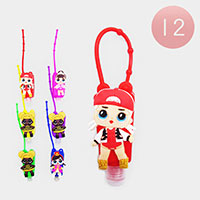 12PCS - Hand Sanitizer With Colorful Silicone Cute Girl Holders