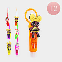 12PCS - Lip Gloss Colorful Silicone Cute Girl Holders