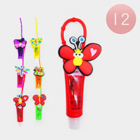 12PCS - Lip Gloss Colorful Silicone Cute Butterfly Holders