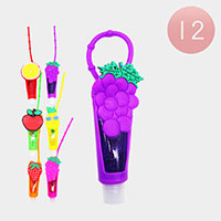 12Pcs - Lip Gloss Colorful Silicone  Fruits Holders