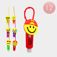 12PCS - Lip Gloss Colorful Silicone Cute Smile Holders