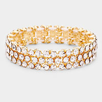 Rhinestone Statement Stretch Evening Bracelet