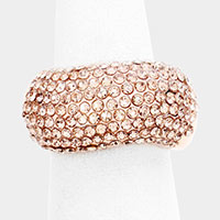 Dome Rhinestone Pave Stretch Ring