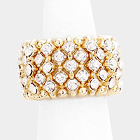 Rhinestone Accented Stretch Ring