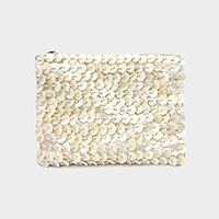 Mother of Pearl Shell Crossbody / Clutch Bag