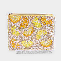 Lemon Seed Beaded Crossbody / Clutch Bag
