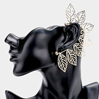 Leaf Metal Cut Out Ear Cuff Earring