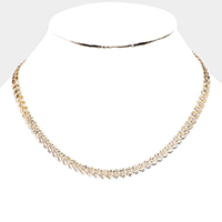 Heart Metal Statement Collar Necklace