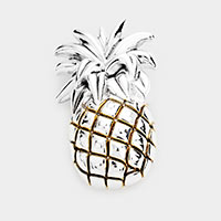 Pineapple Metal Pendant / Pin Brooch